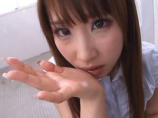 Stunning Asian teacher Shunka Ayami pleases three dudes