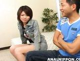 Horny sex doll Yuri Kosaka enjoys hot banging on Asian anal porn picture 2