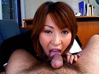 Jun Kusanagi Lovely Asian model gives a sensual blowjob on a date