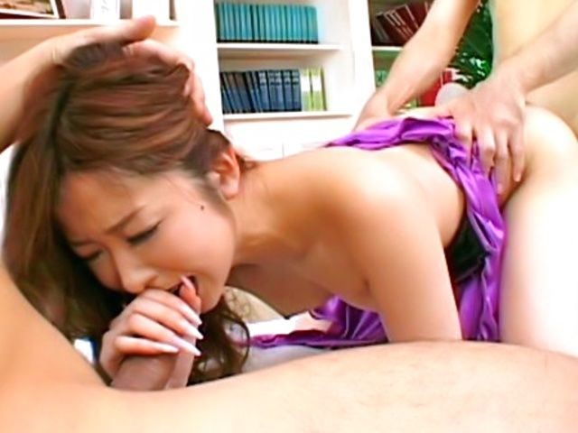 Nana Otone Naughty Asian model gets a fucking from behind