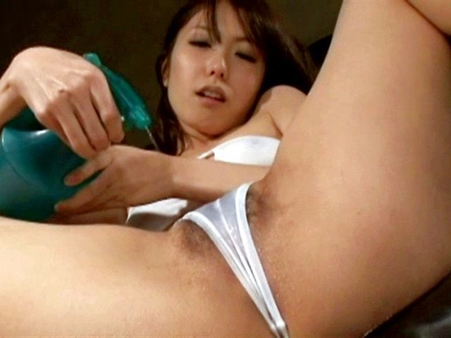 Masturbation during hot solo girl action