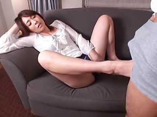 Kinky Asian babe likes to swallow warm cum