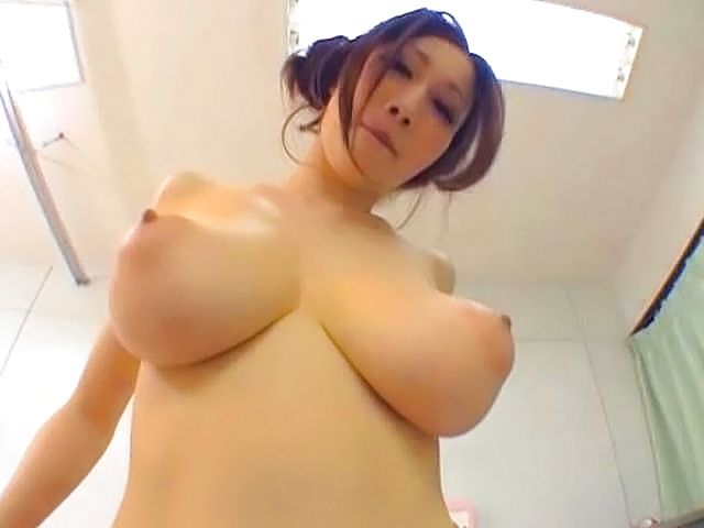 Cute Asian stunner with huge jugs gets fucked on pov