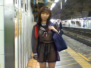 Mikan Lovely Asian schoolgirl is an exhibitionist