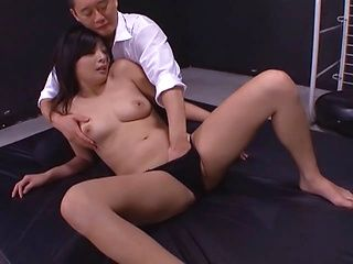 Naughty Japanese AV model is a hot milf enjoying hard cock