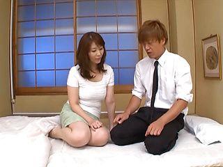 Horny Japanese teacher Chisato Shohda fucks her sexy student