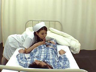 Crazy Japanese nurses are insatiable cock suckers teasing patients