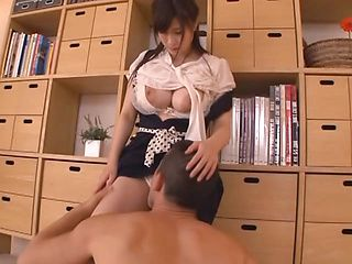 Mitsuki Akai busty Asian babe is banged hard in stand fucking
