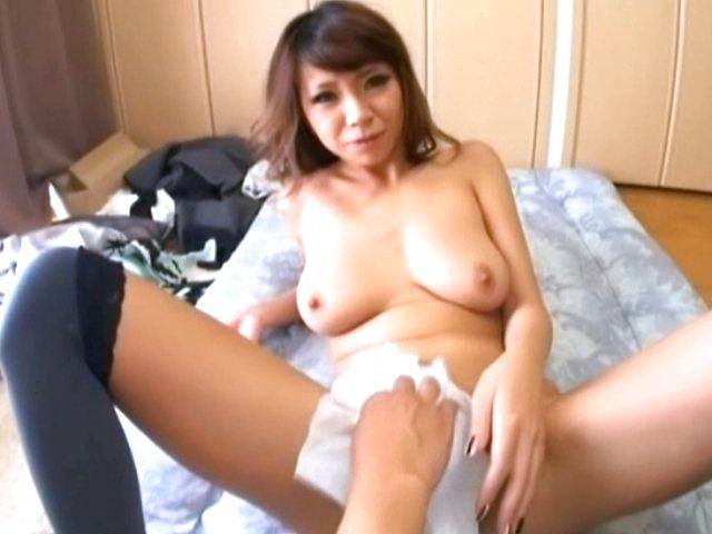 Busty Asian milf Sumire Matsu fucks in doggy-style