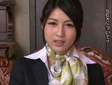 Seductive Japanese stewardess Reo Saionji likes hardcore picture 13