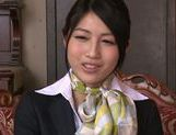 Seductive Japanese stewardess Reo Saionji likes hardcore picture 14