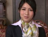 Seductive Japanese stewardess Reo Saionji likes hardcore picture 15