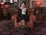 Seductive Japanese stewardess Reo Saionji likes hardcore picture 9