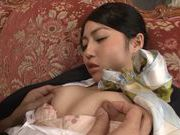 Seductive Japanese stewardess Reo Saionji likes hardcorecute asian, asian chicks}