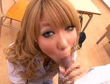 Appetising Japanese schoolgirl Asuka Hoshi sucks and rides rod