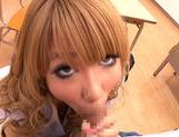 Appetising Japanese schoolgirl Asuka Hoshi sucks and rides rod picture 11