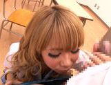 Appetising Japanese schoolgirl Asuka Hoshi sucks and rides rod picture 15