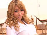 Appetising Japanese schoolgirl Asuka Hoshi sucks and rides rod picture 5