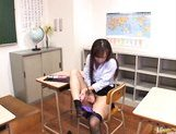 Reona Kanzaki Asian beauty fondles her pussy picture 13