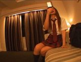 Japanese AV model enjoys sucking lots of cock in her school uniform