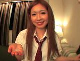 Japanese AV model enjoys sucking lots of cock in her school uniformhot asian pussy, cute asian}