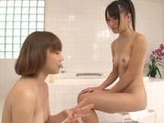 Young Nana Usami enjoys hottie licking her muff