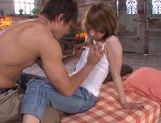Skinny Azumi enjoys a huge dick in her hole picture 8