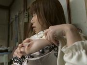 Arousing Hanomi Uehara likes it in solo pleasuring