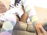 Japanese AV model plays maid and fondles her pussy picture 14