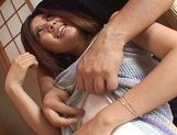 Erika San is Asian hoousewife who likes to surprise her husband with a hard sex session. picture 15