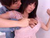 Lovely chick Nana Aoyama flaunts nice big tits picture 12