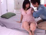 Lovely chick Nana Aoyama flaunts nice big tits picture 15