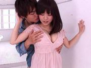 Lovely chick Nana Aoyama flaunts nice big tits