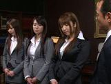 Sweet Riho Nanase get nasty by the office along friends picture 15