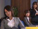 Sweet Riho Nanase get nasty by the office along friends picture 4