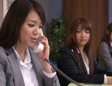 Sweet Riho Nanase get nasty by the office along friends picture 6