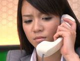 Sweet Riho Nanase get nasty by the office along friends picture 7