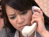 Sweet Riho Nanase get nasty by the office along friends picture 8