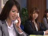 Sweet Riho Nanase get nasty by the office along friends picture 9