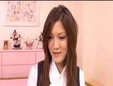 Neiro Suzuka Naughty Asian schoolgirl gets her pussy poked and tits fondled picture 11