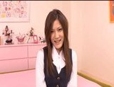 Neiro Suzuka Naughty Asian schoolgirl gets her pussy poked and tits fondled picture 12