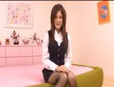 Neiro Suzuka Naughty Asian schoolgirl gets her pussy poked and tits fondled picture 2