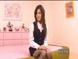 Neiro Suzuka Naughty Asian schoolgirl gets her pussy poked and tits fondled picture 3