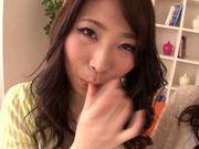 Lesbians Asuka, Reiko Sawamura and Sarina Takeuchi like hardcore