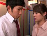 Appetizing milf Mei Asou seduces her horny colleague picture 14