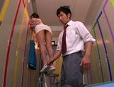 Appetizing milf Mei Asou seduces her horny colleague picture 4