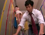 Appetizing milf Mei Asou seduces her horny colleague picture 7