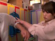 Appetizing milf Mei Asou seduces her horny colleague