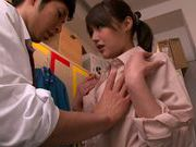 Appetizing milf Mei Asou seduces her horny colleague