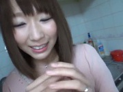 Frisky Asian nympho gets her pussy rubbed and fucked really hard